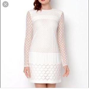 Diane Von Furstenberg Enny Banded Lace Dress